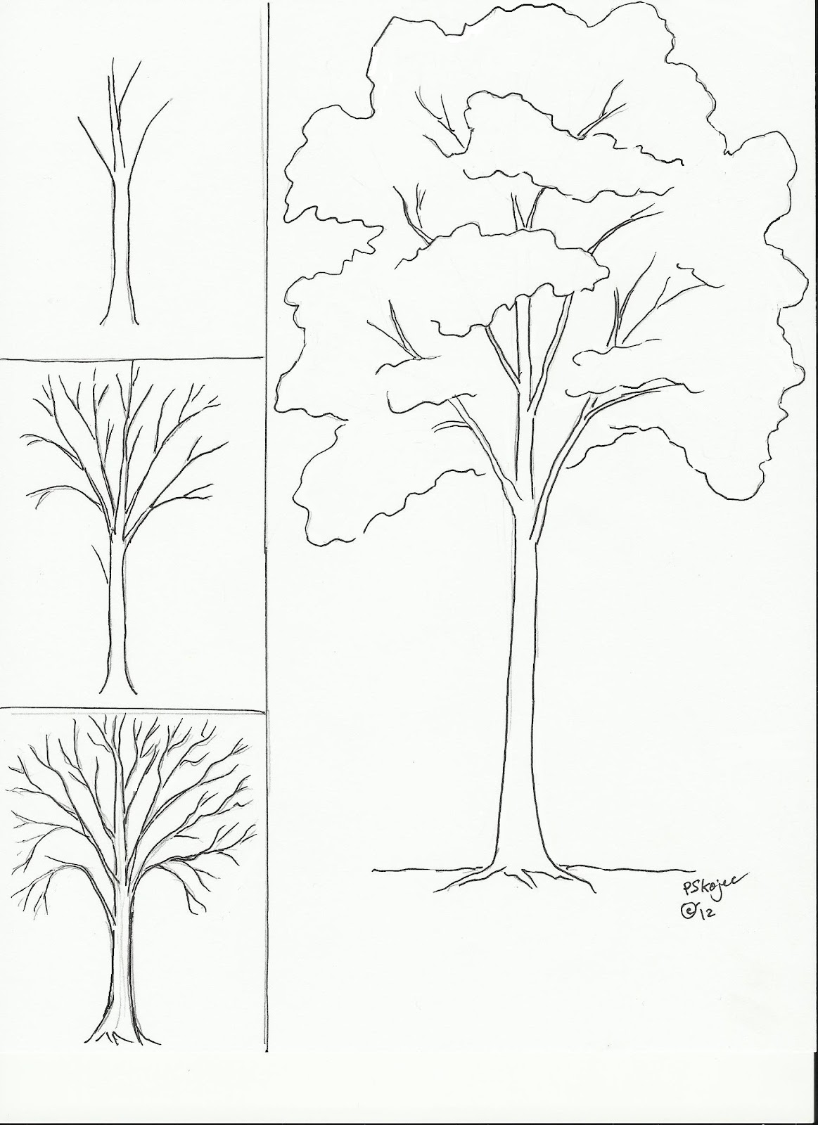 how to draw simple trees in krita