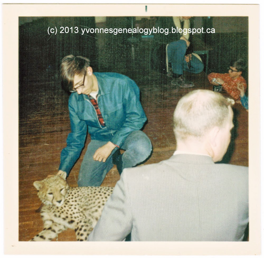 Michael Demoskoff with a cheetah in about 1967