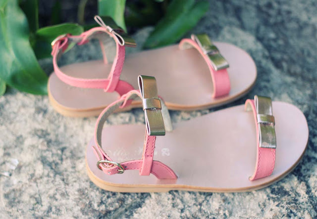 Oca-Loca Pretty Pink Leather Sandals for Girls | Chichi Mary