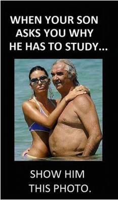 When your son ask you why he has to study.....show him this photo. When your son daughter ask you why he has to study.....show him her this photo.