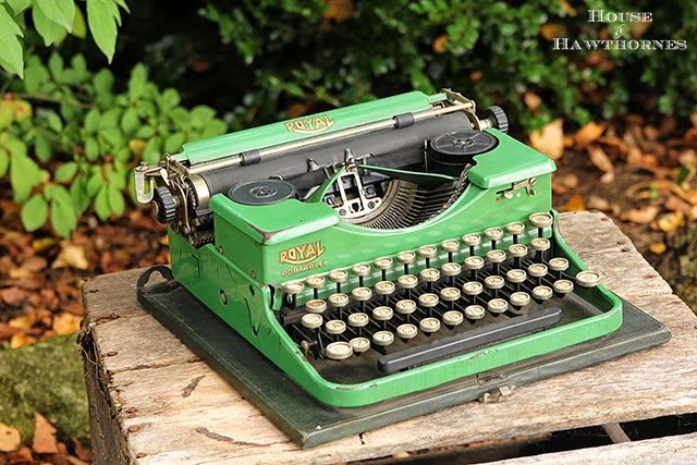 Vintage green portable Royal typewriter @houseofhawthornes.com