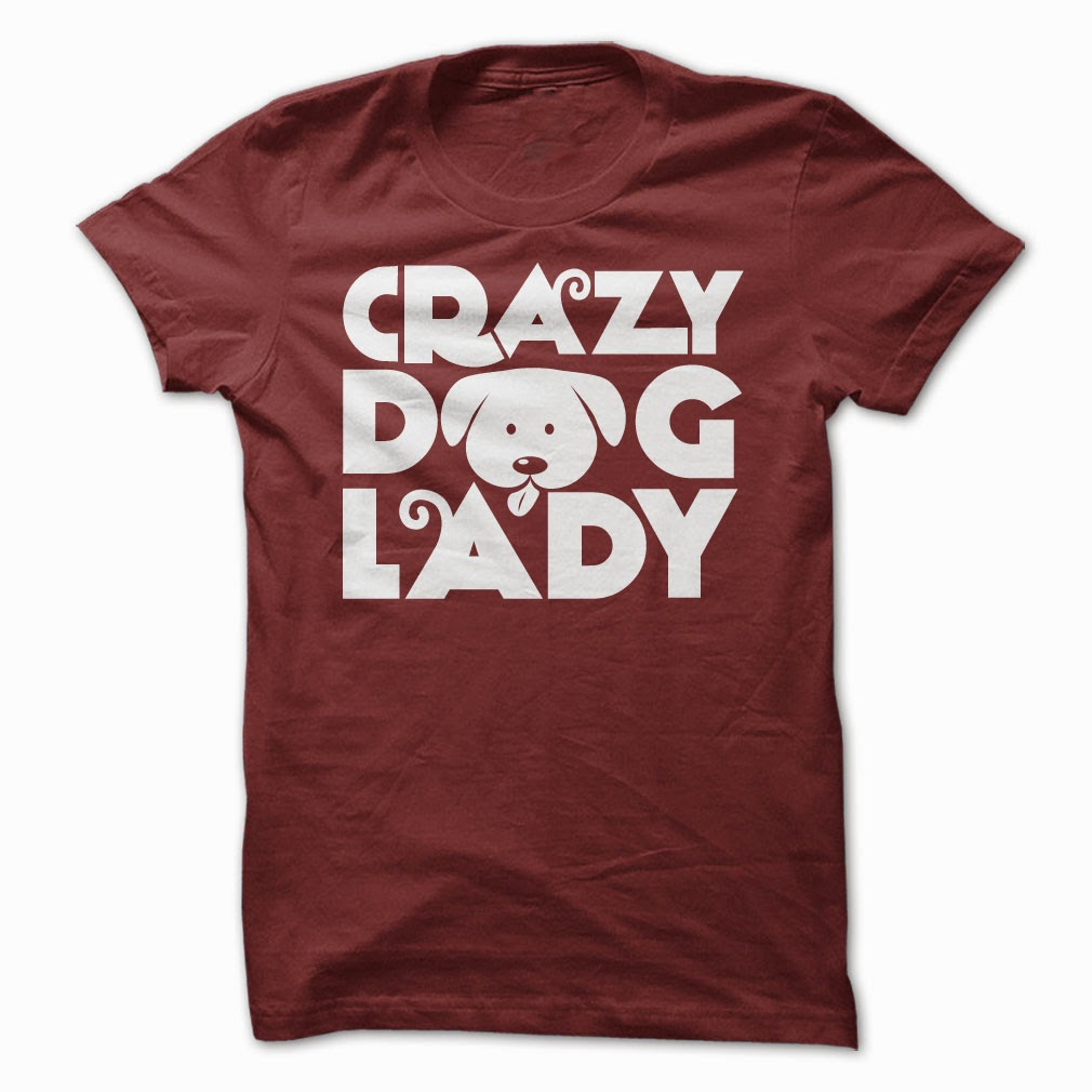 Crazy Dog Lady Funny T Shirt
