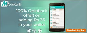 Mobikwik 100% Cash Back Coupon - Add Rs 35 and Get Rs 35 Extra Wallet Balance