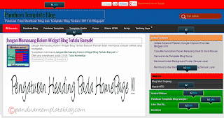 Pengaturan Heading Blog Panduan Template Blog