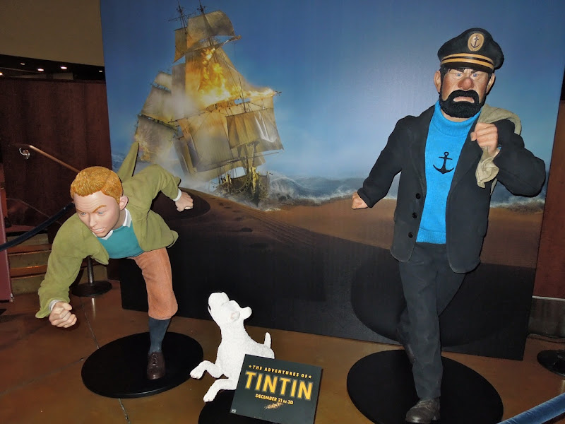 Tintin movie display