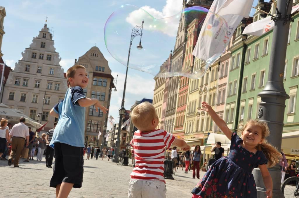 Wrocław - miasto spotkań z bańkami mydlanymi