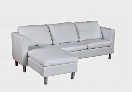 Decco interieur canap en cuir blanc 194 x 127 x 60 cm for Nettoyer canape cuir blanc