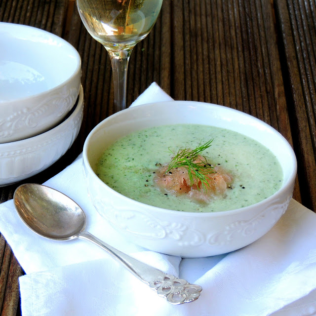 Cold Cucumber, Herb & Yoghurt Soup with Verjuice Granita | Scrumptious ...
