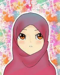 gambar kartun muslimah unik