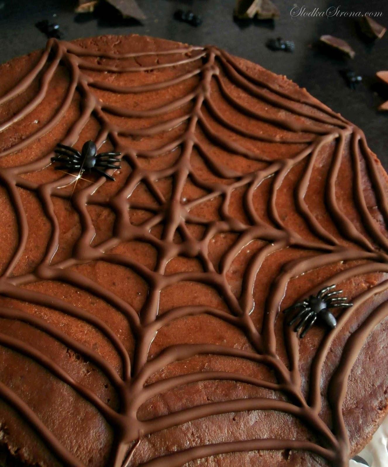Czekoladowy Sernik z Pajęczyną - Halloween - Przepis - Słodka Strona