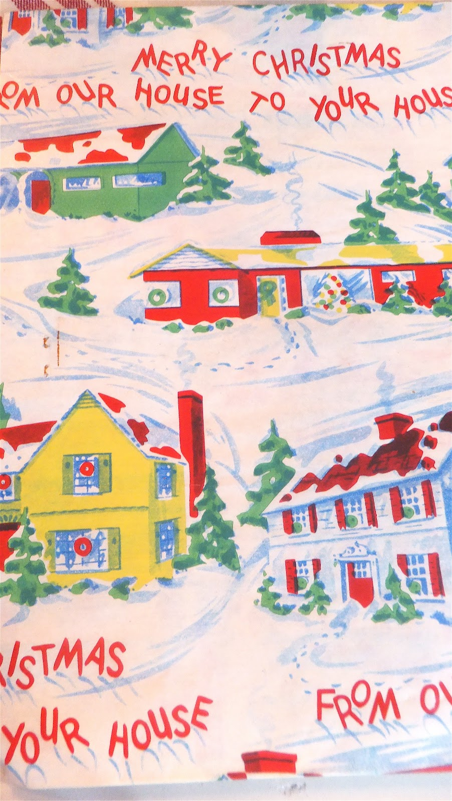 Ash Tree Cottage: Vintage Christmas Wrapping Paper and Cards