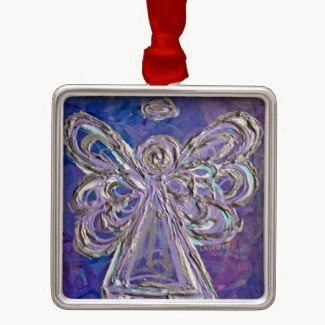 Purple Angel Color Series Ornament