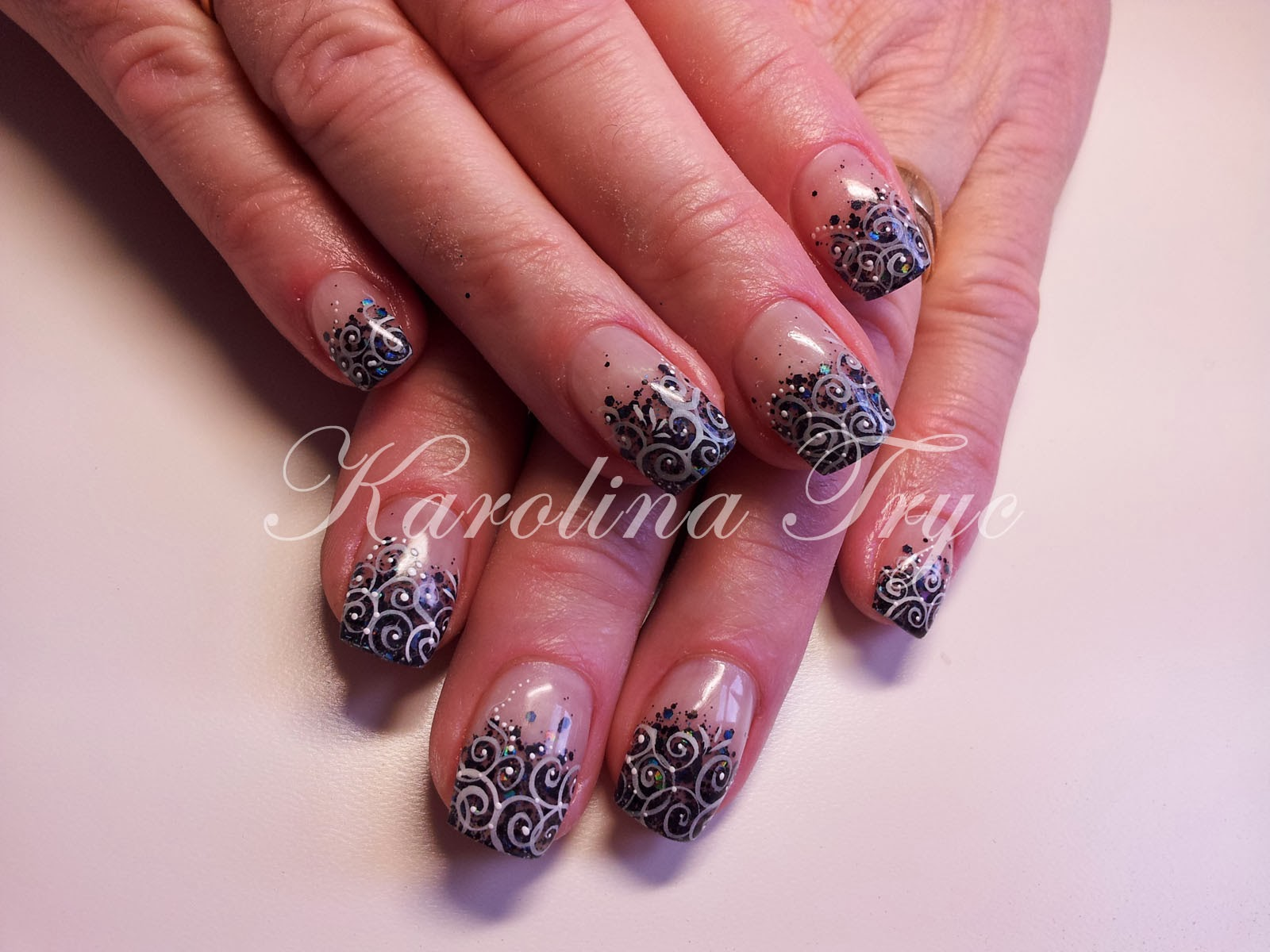 how to put loose glitter on gel nails