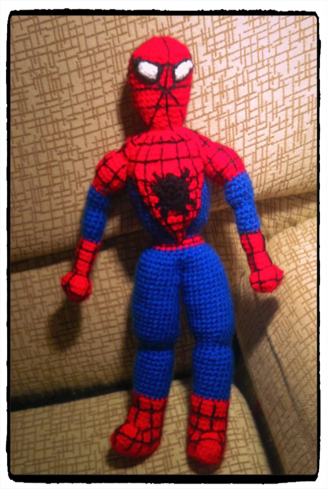 Amigurumi Spiderman Patron : Patron hombre arana crochet - Imagui