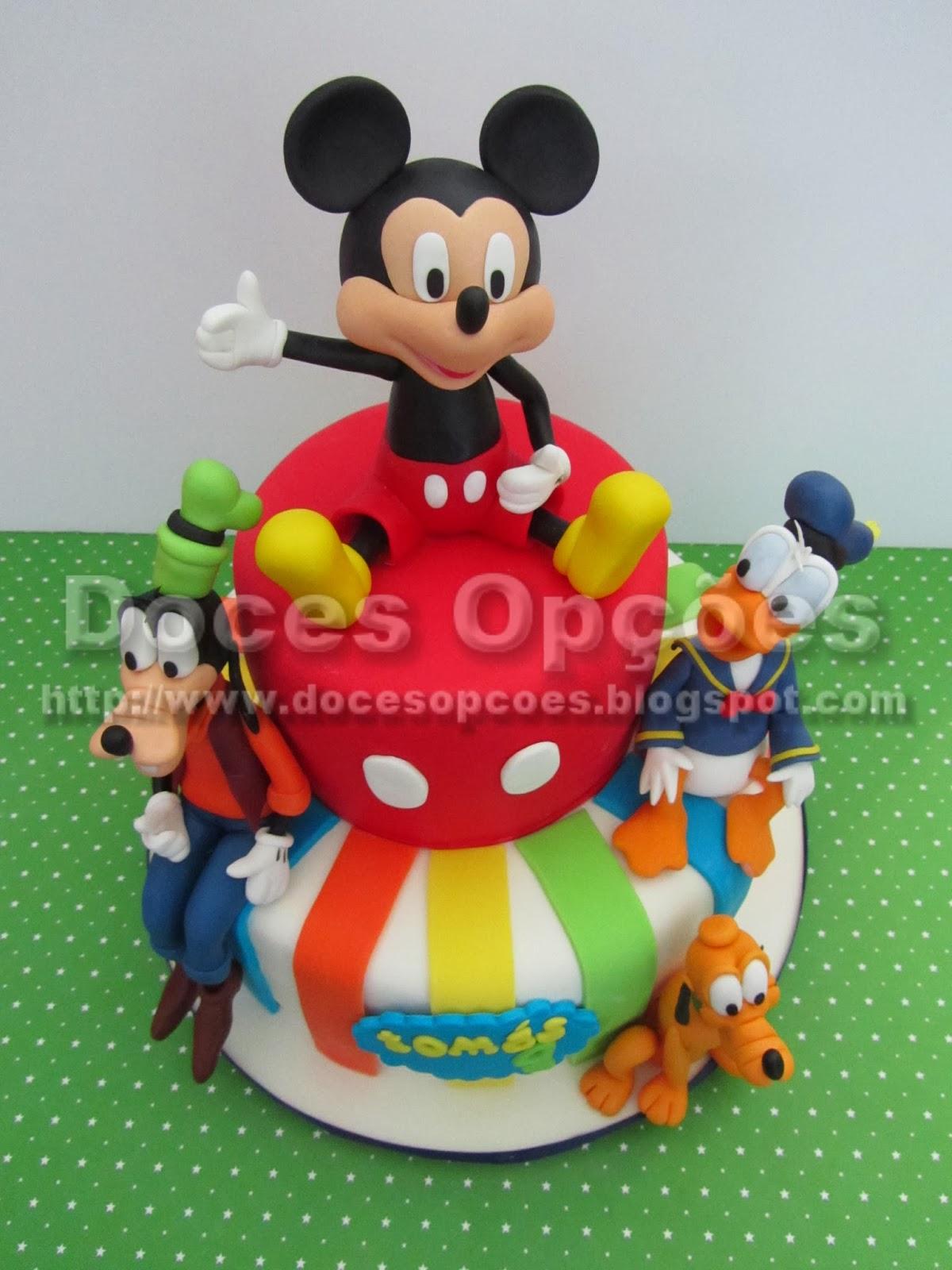 bolo aniversário mickey donald pluto pateta disney
