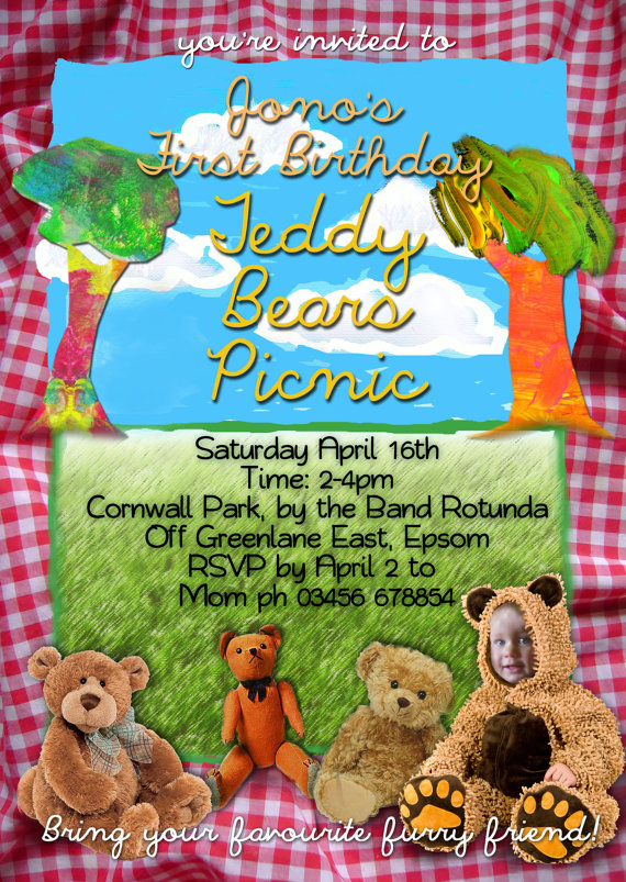 Great Fun etc The Teddy Bears Picnic – Teddy Bears Picnic Party Invitations