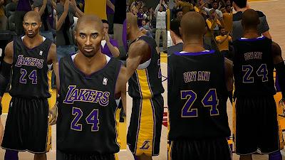 2K14 Lakers Black Alt Jersey - Hollywood Nights