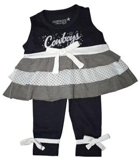 Dallas Cowboys Toddler Girls outfit 1