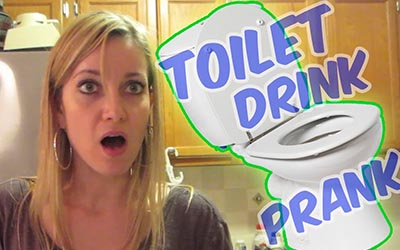 TOILET WATER DRINK PRANK