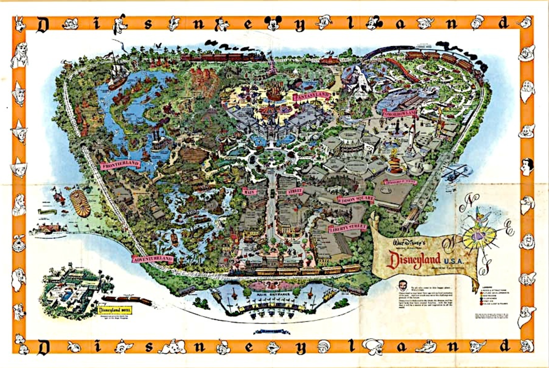 Disneyland 1955 Map Disney Avenue: Disneyl...
