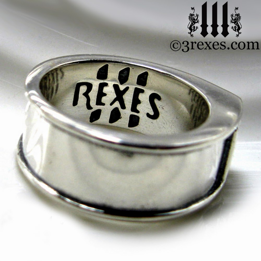 Silver Iron Cross Ring Knights Templar Masonic Band