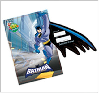 Jollibee party package - Batman Theme invitation card