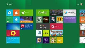 Tela inicial do Windows 8