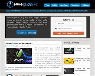 Skill Free Blogger Template