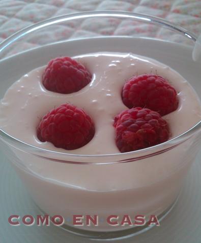 Como en casa mousse ligera de yogurt - Como hacer mousse de yogurt ...