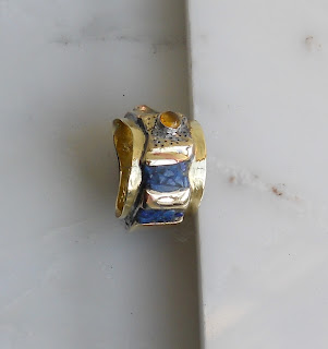 Metalsmithing By W Schweizer Brazed Ring With Epoxy Inlay