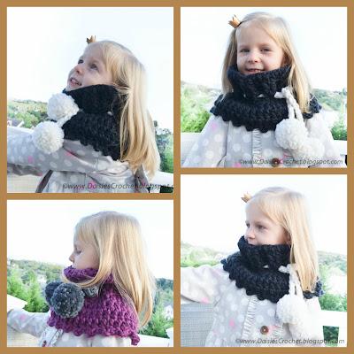 crochet pom pom scarf pattern