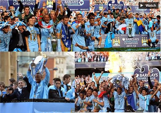 Foto Pesta Juara Manchester City