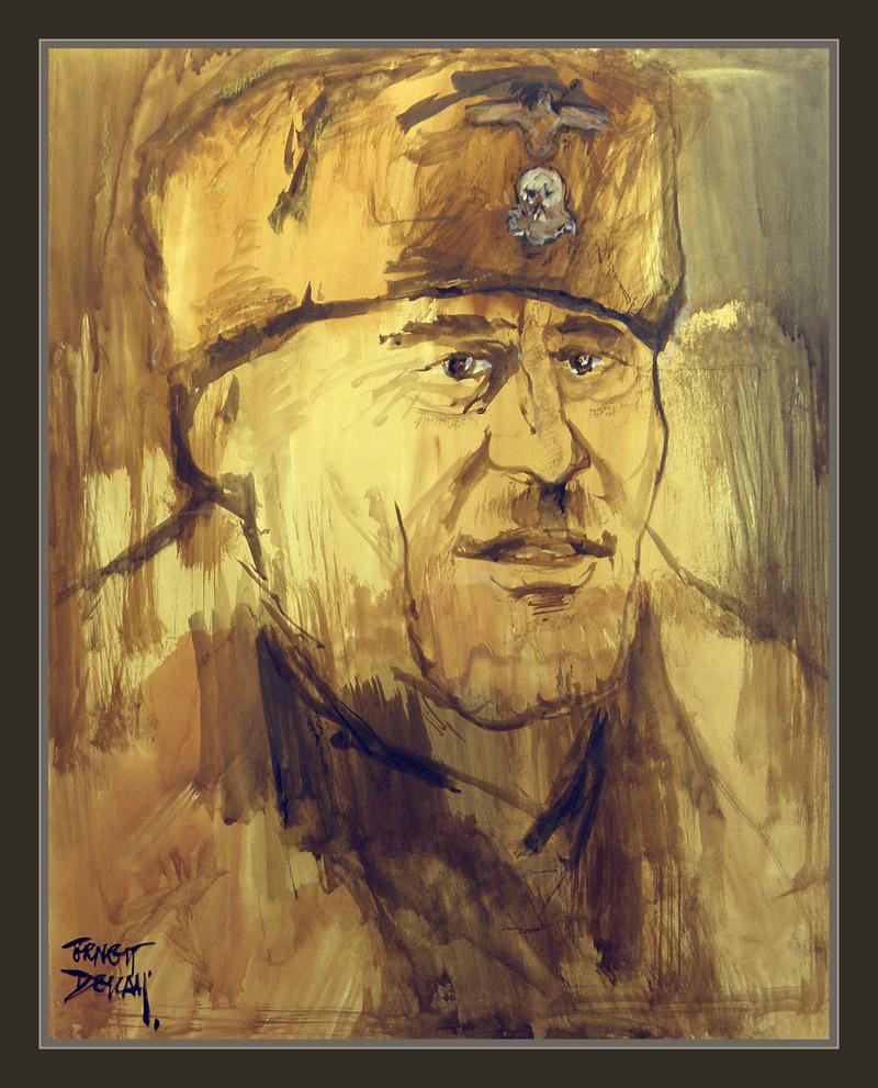 WW2-WAFFEN SS-SEPP DIETRICH-ART-ARTE-PAINTINGS-PINTURA-SS-ALEMANIA-PINTOR-ERNEST DESCALS-