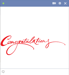 Congratulations emoticon