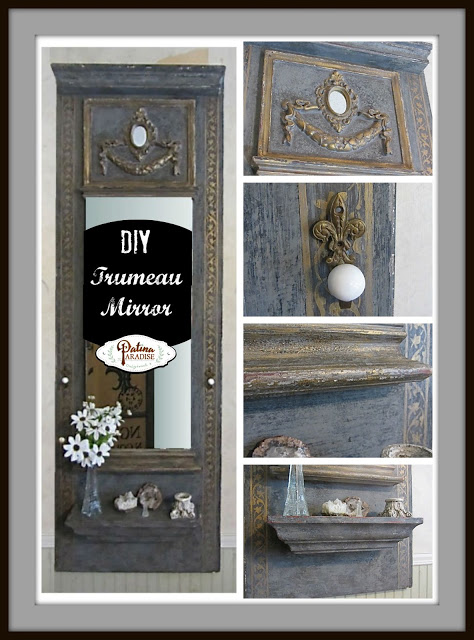 Patina In Paradise-DIY- Trumeau Mirror-Blog Link Up Party-Treasure Hunt Thursday- From My Front Porch To Yours