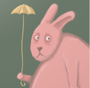 umbrella lost toy bedtime rabbit pink multiple sclerosis