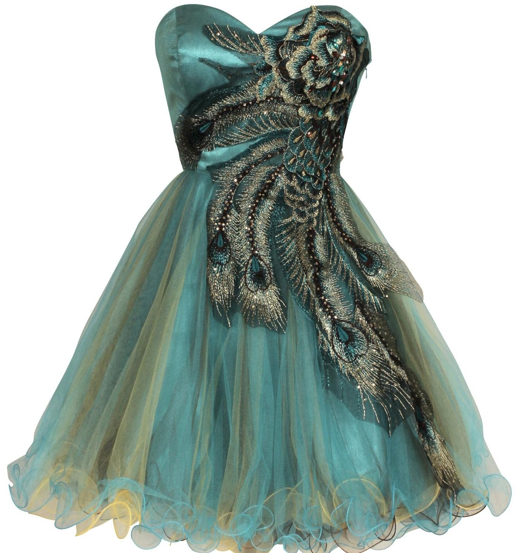 Vestido Turquesa De Graduaci  N Para Tallas Grandes Con Detalle