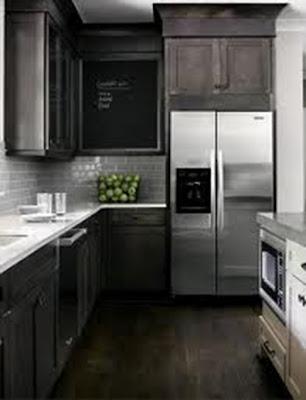 cocina pequeña blanco y negro