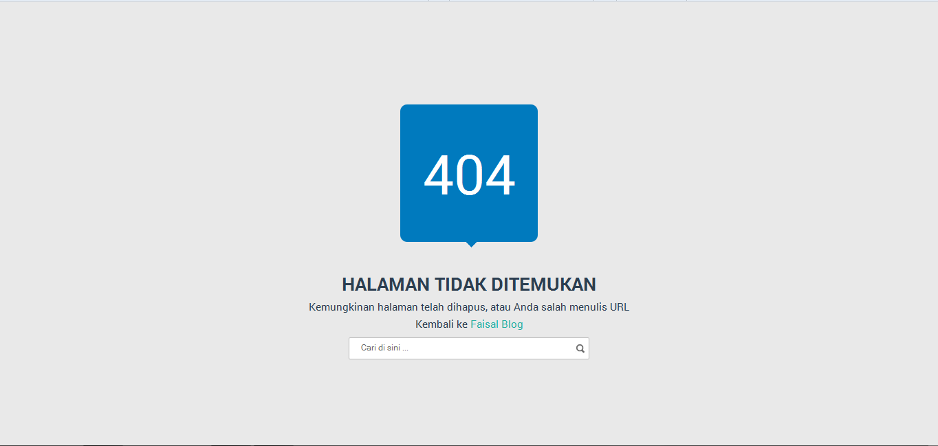 404 Error Not Found pada Blog