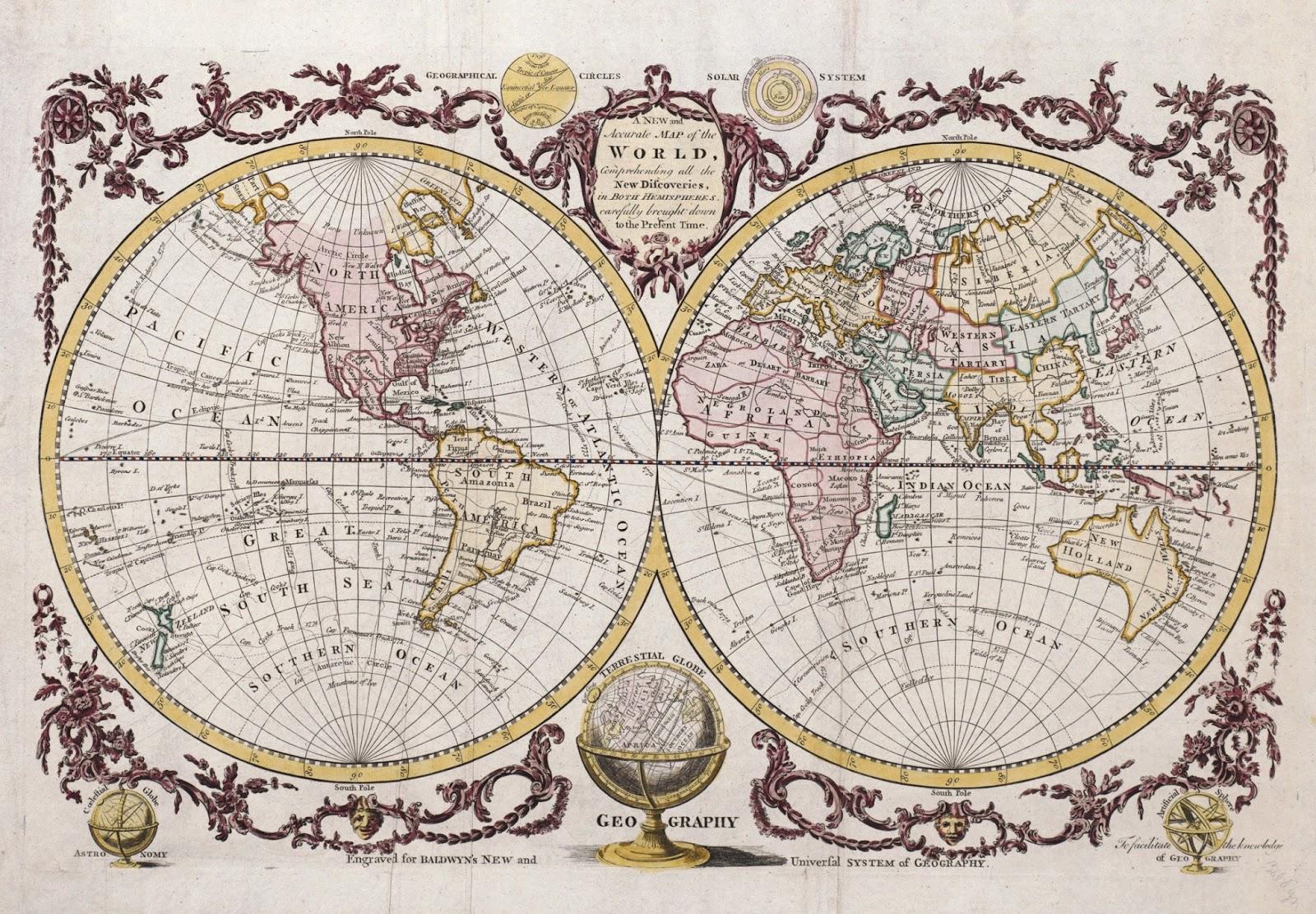Ancient World Maps World Map 18th Century