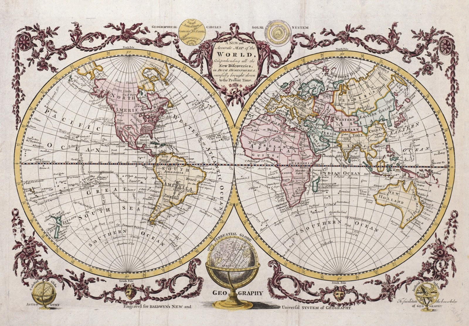 Ancient world maps world map 18th century gumiabroncs Gallery