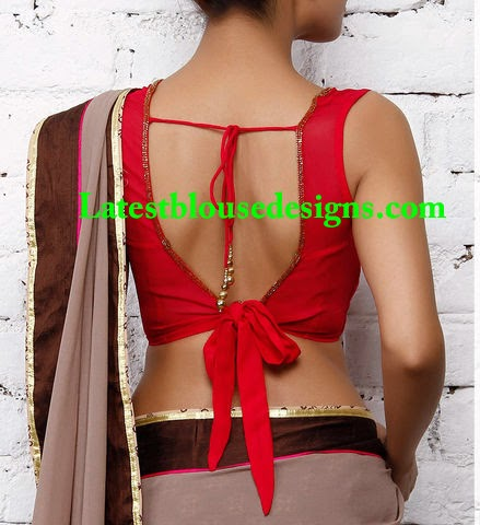 tie back saree blouse