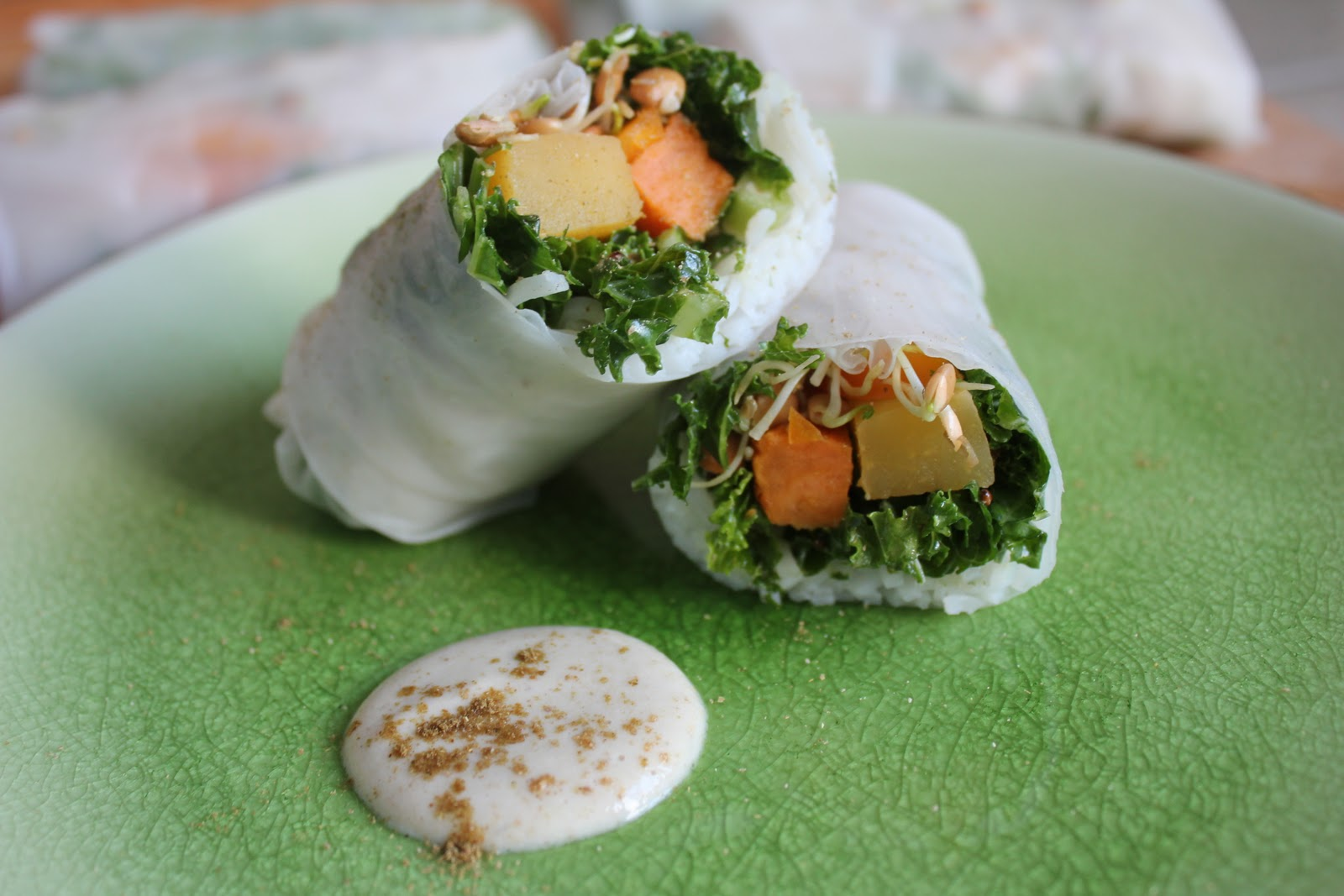 powered by plantz: Winter Spring Rolls