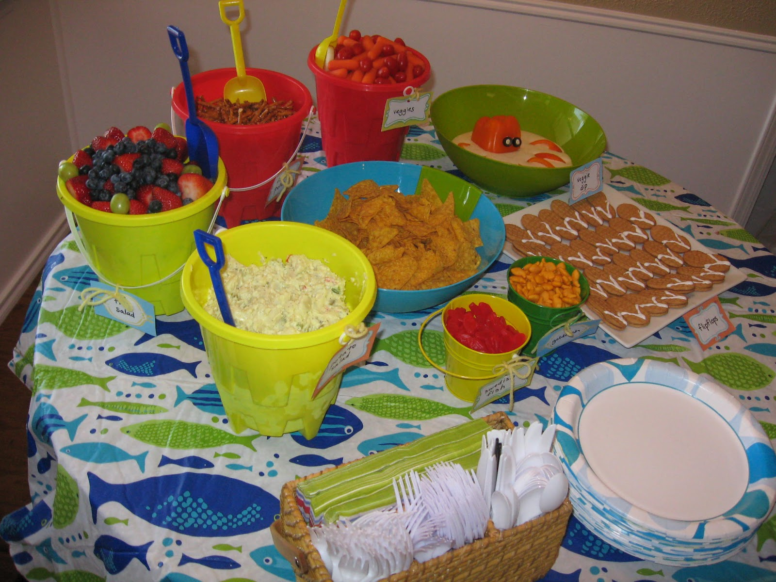 Amys Notebook Party Beach Theme Birthday Party