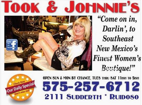Took and Johnnie's Boutique Add