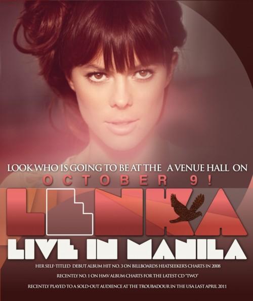Lenka LIVE in Manila 2011, Lenka LIVE in Manila 2011 Poster, Lenka LIVE in Manila 2011 Tickets, picture, image, billboard, tickets, photos