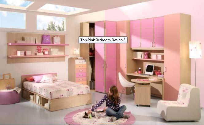 Pink Bedroom Valentine Interior Design 2012 - Modern Home Exteriors