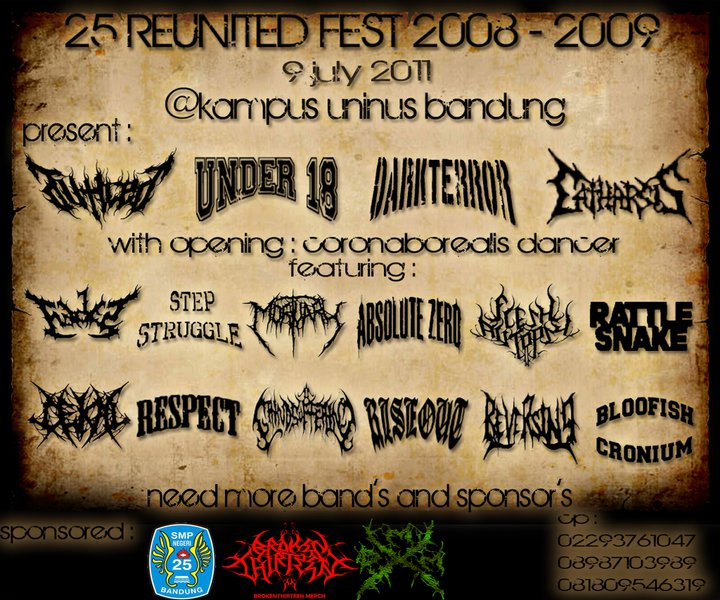 Image for 25 REUNITED FEST 2008-2009 (9 July 2011 - Events Fest Gigs)