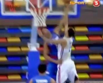 Japeth Aguilar Monster block on Dominican Player (VIDEO ...