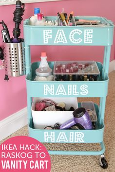 Carrito organizador maquillaje